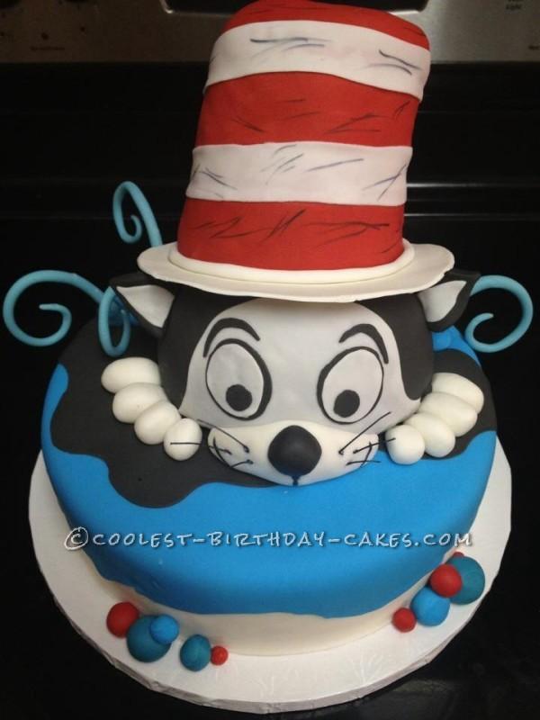 Coolest Dr Seuss Cat In Hat Cake