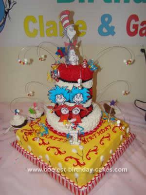 Coolest Dr Seuss Birthday Cake