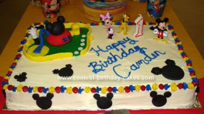 Cool Mickey Mouse Clubhouse Cake