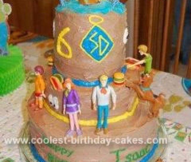 Homemade Scooby Doo Tiered Cake
