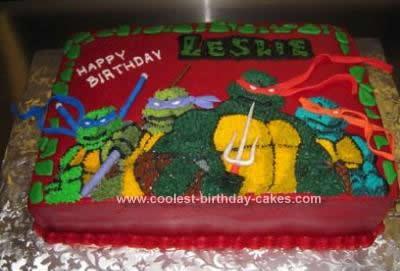Cool Homemade Teenage Mutant Ninja Turtle Cake