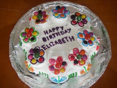 Simple Homemade Flower Cake