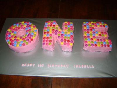 Cool Homemade One Birthday Cake