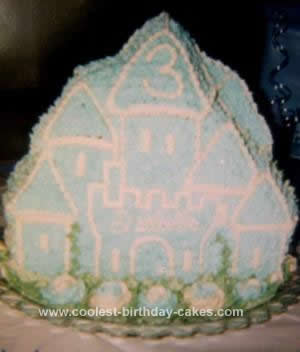 Homemade Standing Castle From Wilton Pan Cake