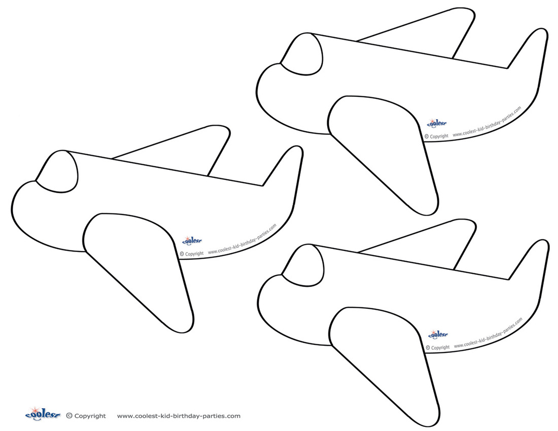 Blank Printable Airplane Thank You Cards