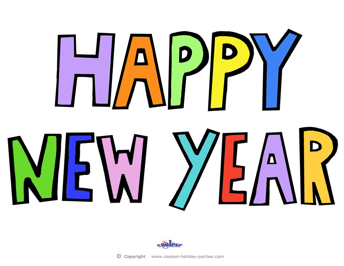 Makaton Sign For Happy New Year Printable