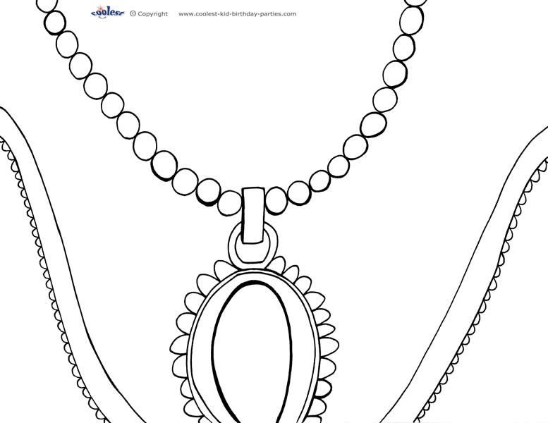 necklace colouring pages