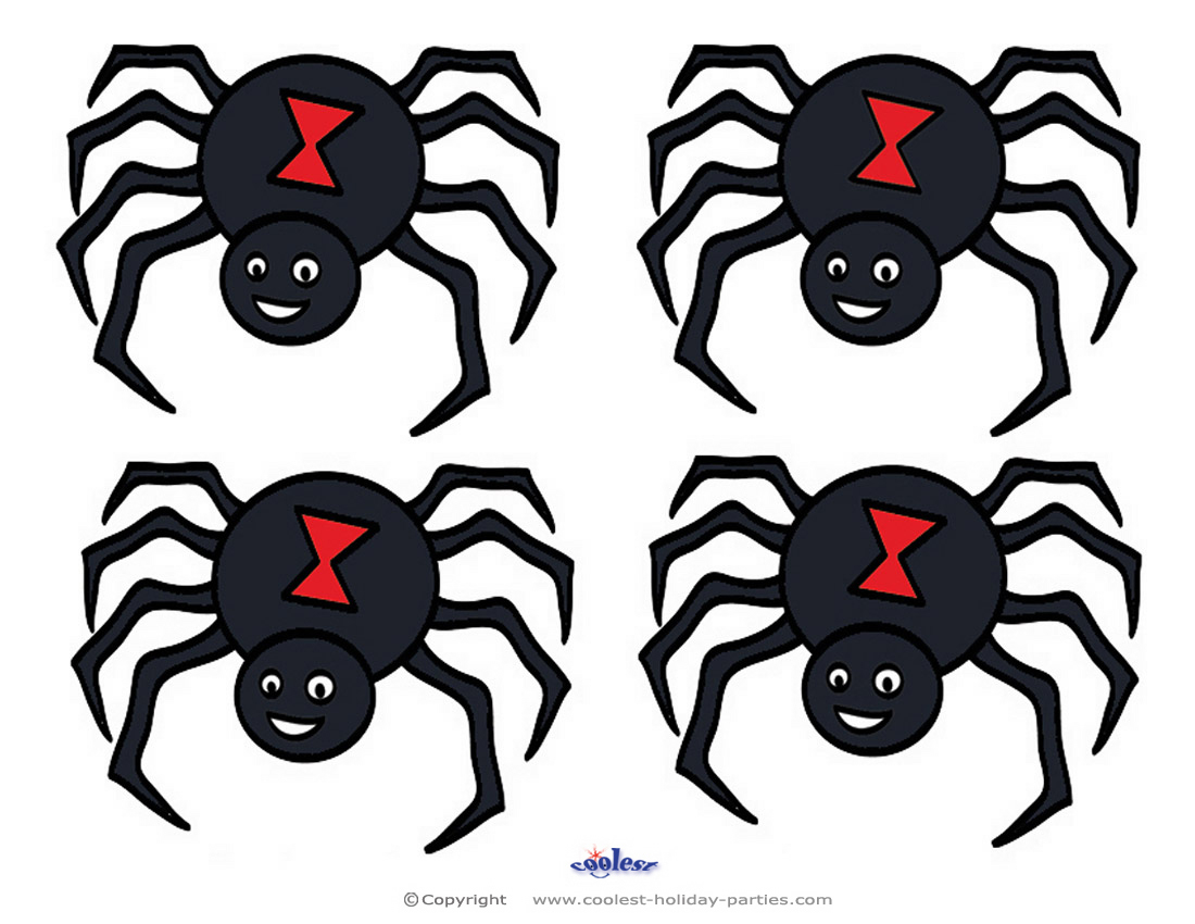Small Printable Colored Spider