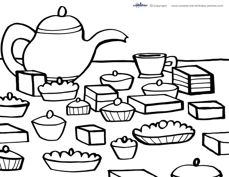 Stunning Princess Tea Party Coloring Pages Photos New Printable