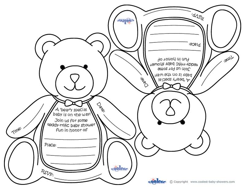 Teddy Bear Baby Shower Printables Printable Invitations