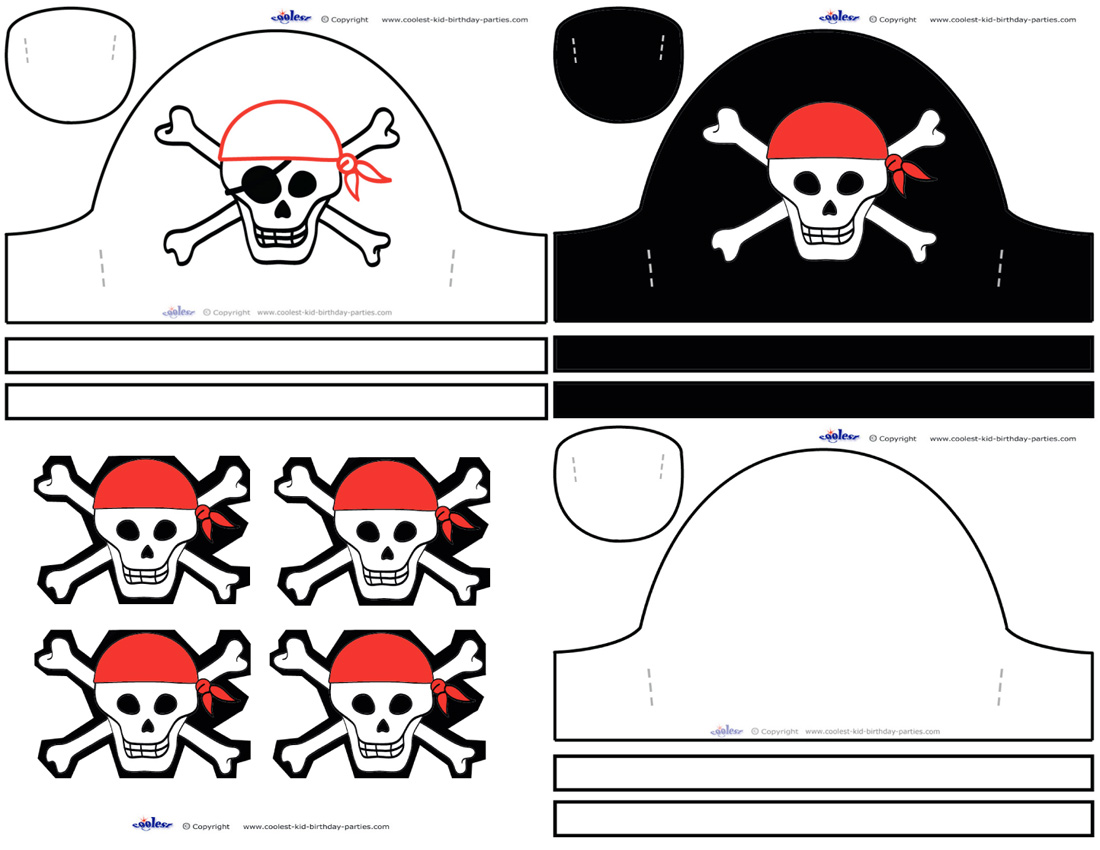 Pirate Hat Templates For Kids
