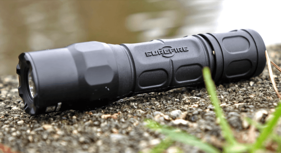 SureFire G2X Series Tactical Flashlight in the outdoors