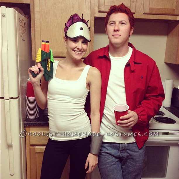 easy cheap and homemade futurama couple s costume