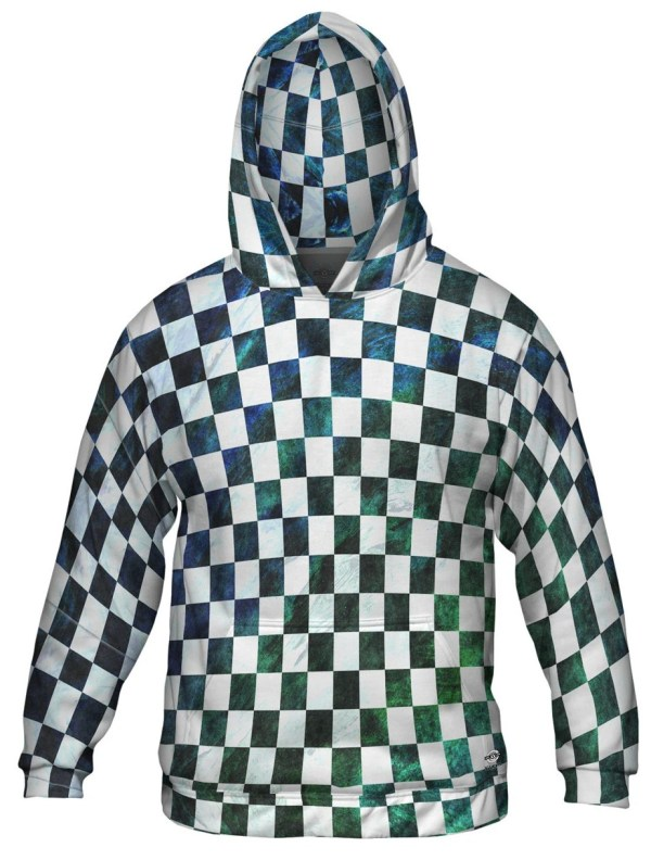 Blue Green Checkered Hoodie