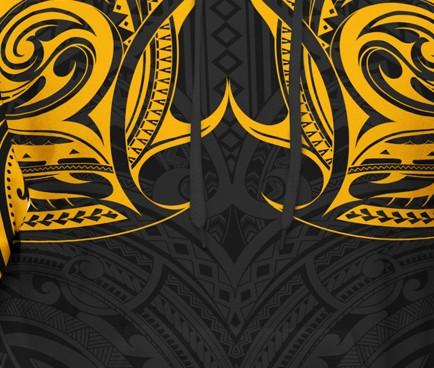 Yellow Maui Tribal Hoodie