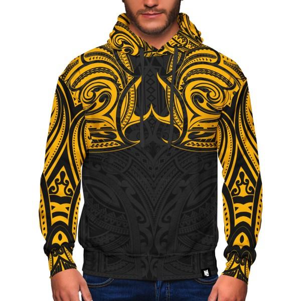 Yellow Tribal Maui Hoodie
