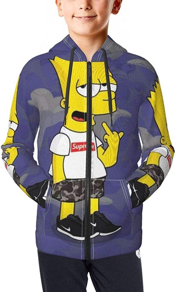 Bart Simpson Hoodie Boys
