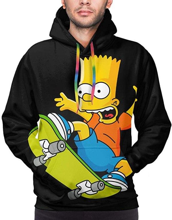 Bart Simpson Skateboard Hoodie