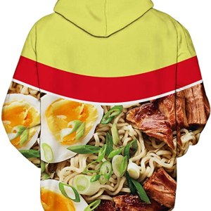 Beef Ramen Noodle Hoodie Back