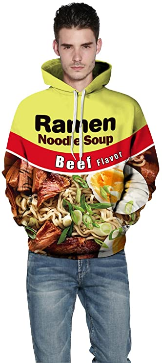 Beef Ramen Noodle Hoodie Mens