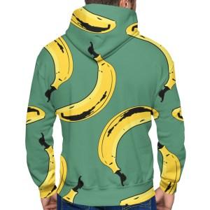 Big Banana Hoodie in Green Back View