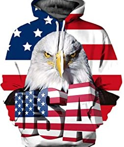 USA Hoodies Mens