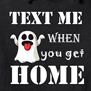 Text me when you get home hoodie in black