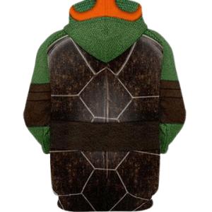 Michelangelo - Orange TMNT Teenage Mutant Ninja Turtles Zip-up Hoodie