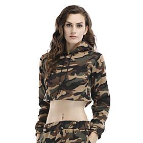 Camo Crop Top Hoodie for women