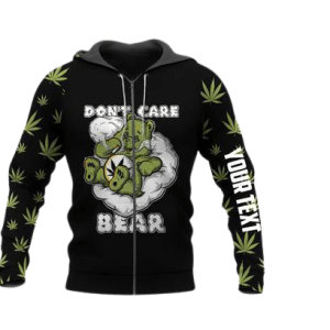 Don't Care Bear Zip Up Hoodie