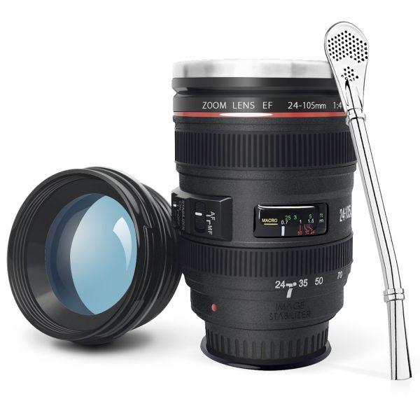Kamera Objektiv Kaffeebecher witziges Gadget