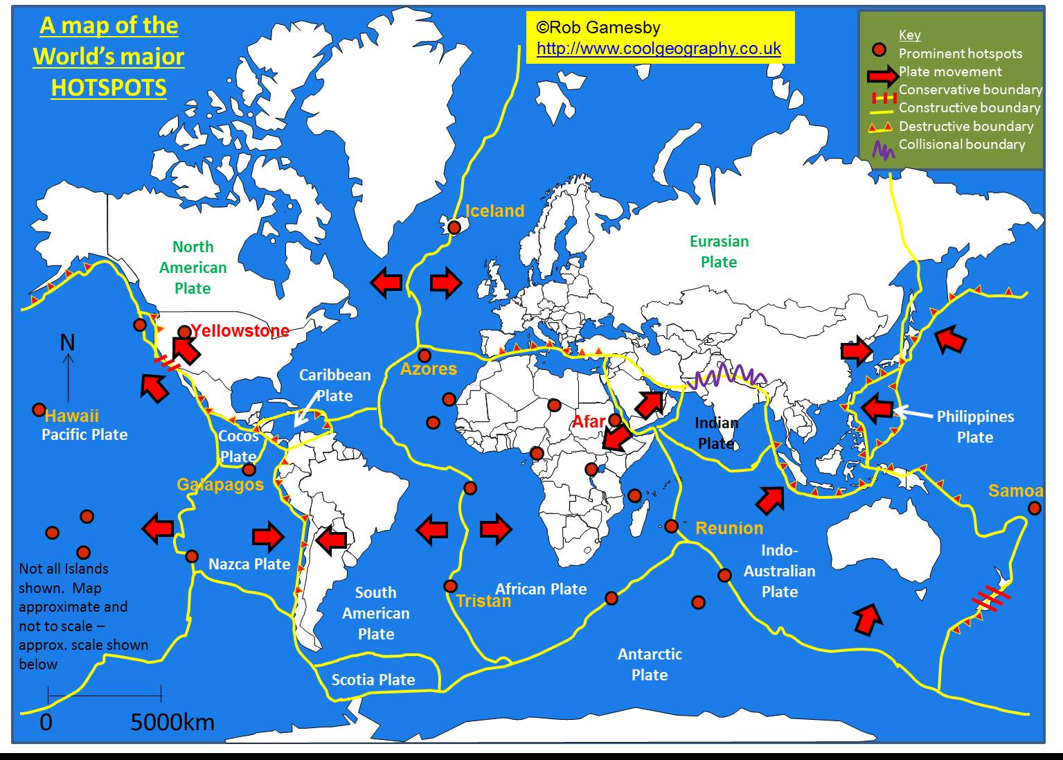 Tectonic Plate Boundaries Map