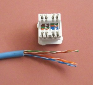 Terminating Cat5e Cable on a Jack (Wall Mount or Patch Panel)