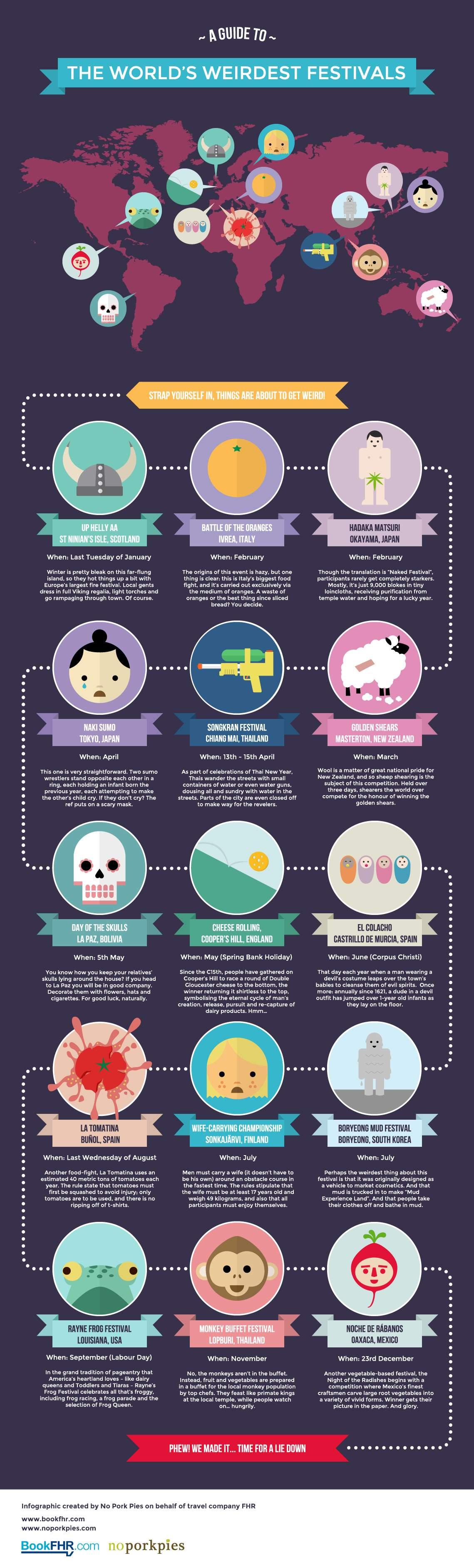 Infographic 108 Festivals de raarste ter wereld