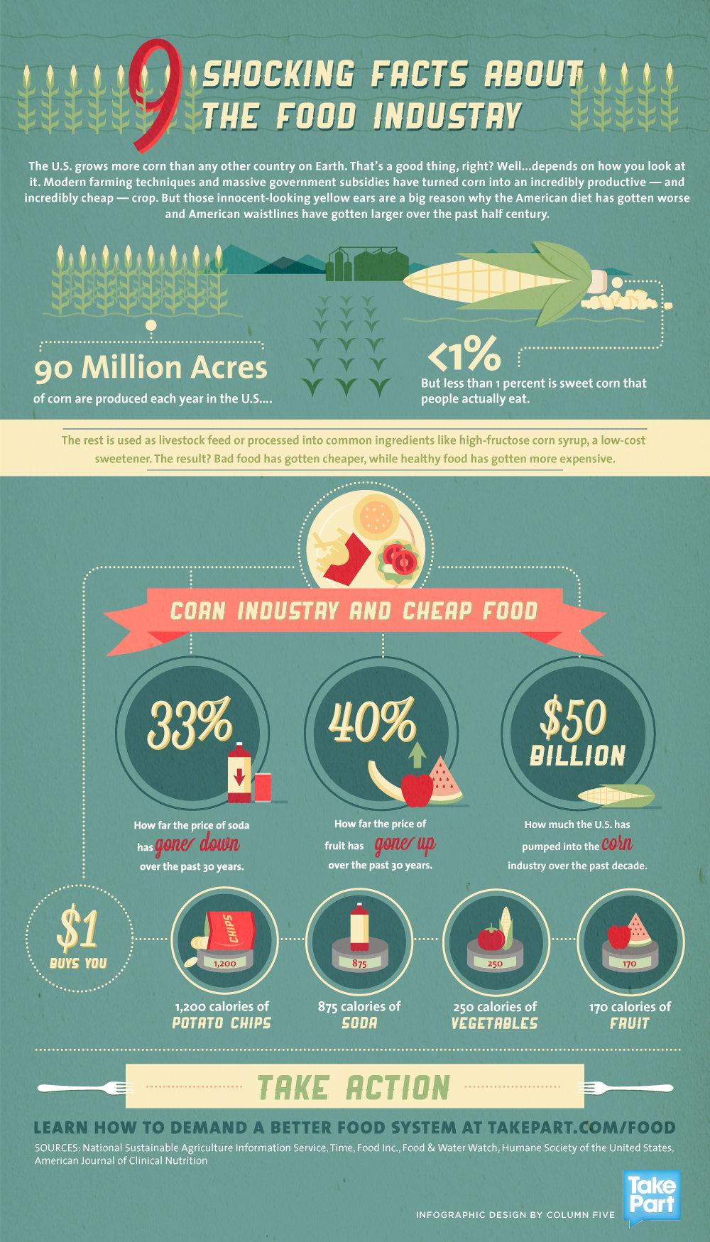 Infographic Schokkende feiten over de foodindustrie