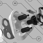 Een thumbnail van een detail van een Braun scheerapparaat.