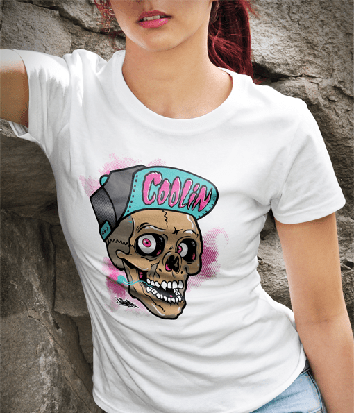 Dumps-Skull-Womens-WhiteTee1
