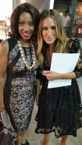 Alison Vaughn Vaughn and Actress Sarah Jessica Parker, who designed the shoes for Reese's Show