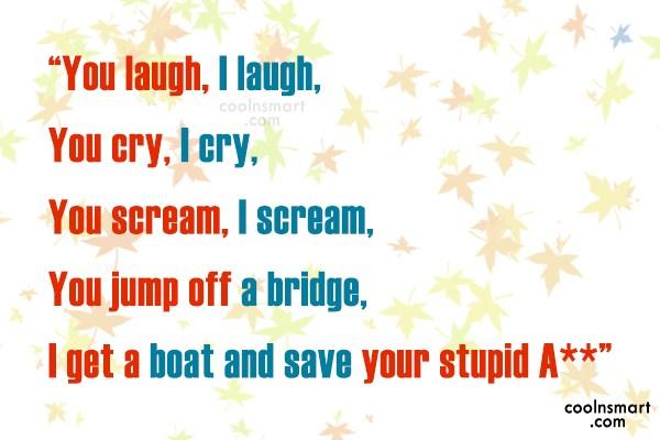 Laugh Bible Having Smart Friend