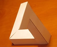 instructions to make your own impossible triangle