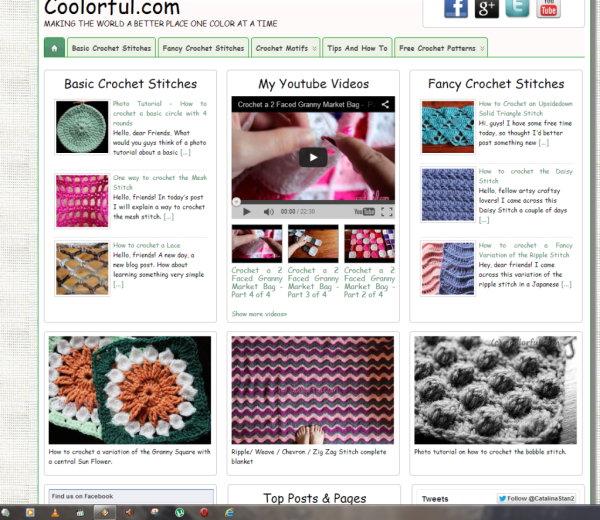 Old Homepage Of Coolorful.com