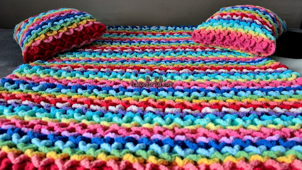 Colorful Crocodile Crochet Baby Blanket By Coolorful