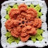 How to crochet a square around a pretty little flower