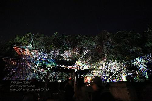 京都嵐山法輪寺花灯路08