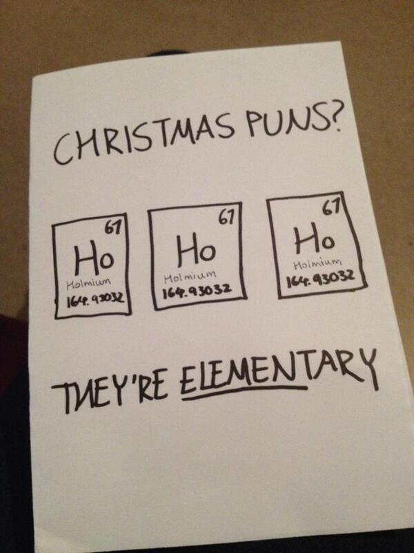 Christmas Chemistry Puns