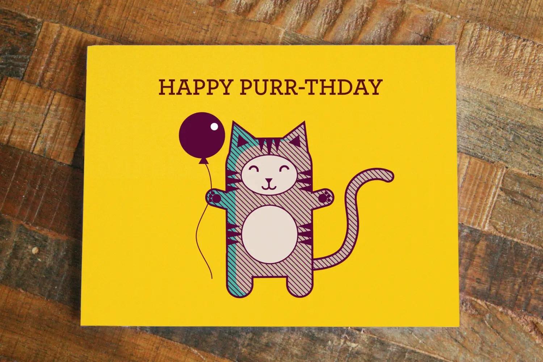 Happy Birthday Funny Cool Cat Invitation Card Invitations 4 U