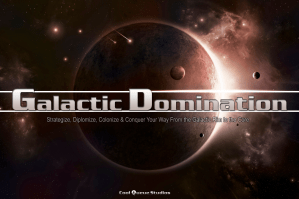 Galactic Domination Splash Page