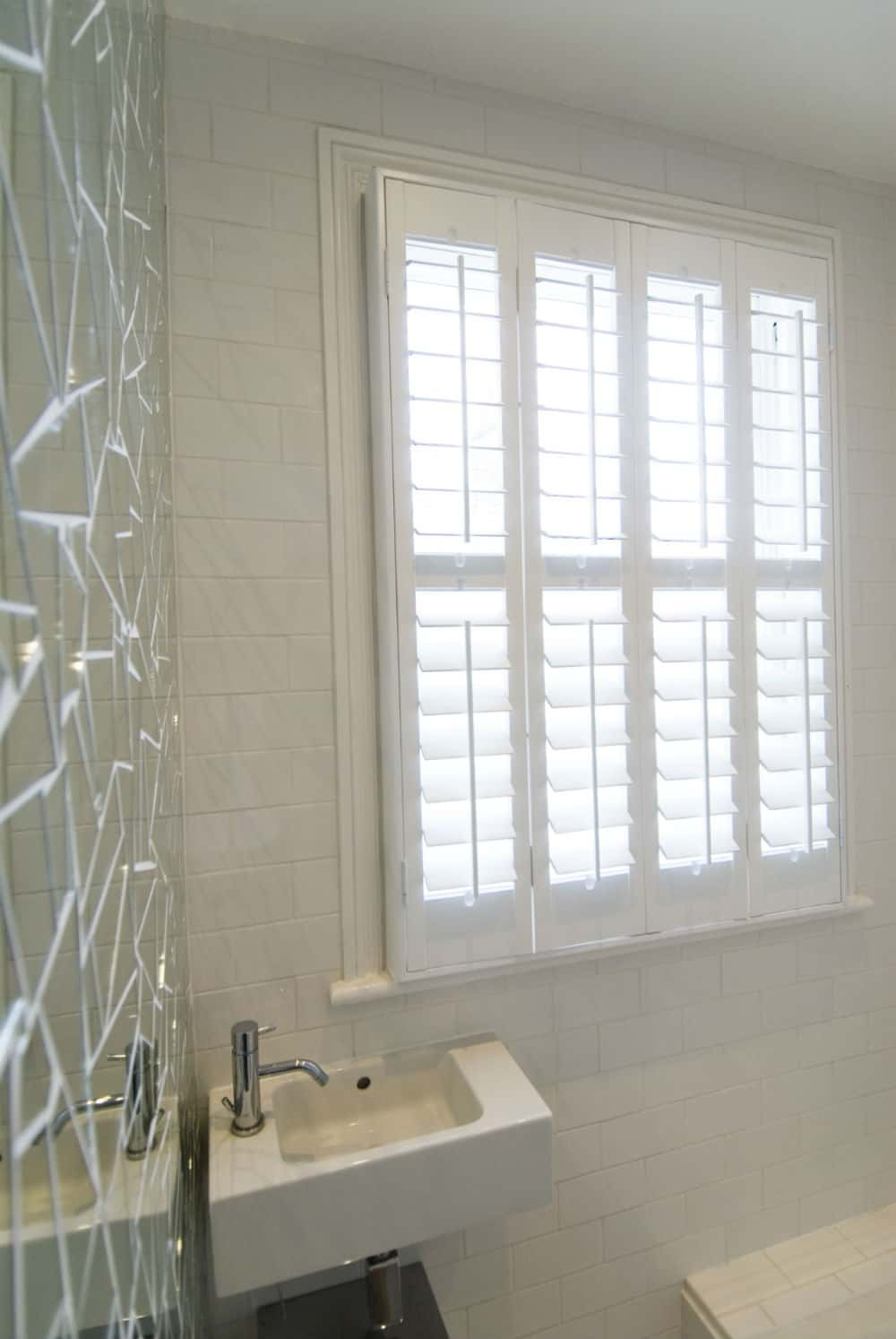 Bathroom Plantation Shutters Wooden Bathroom Window