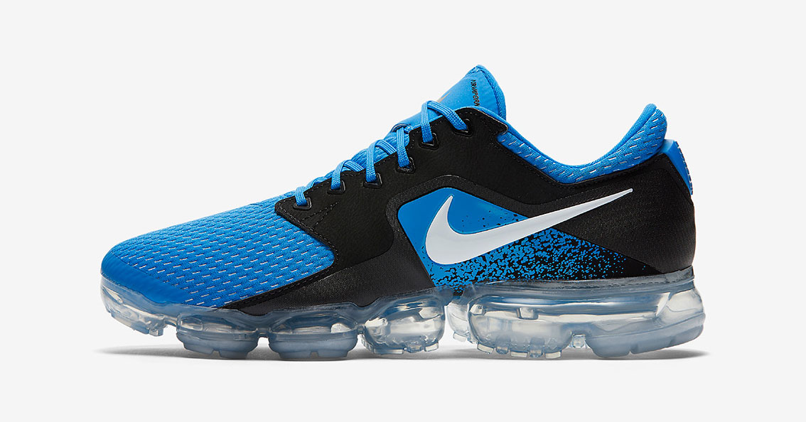 huge selection of 7976f 6fd4c Nike Air VaporMax CS Mesh Blue Black Cool Sneakers