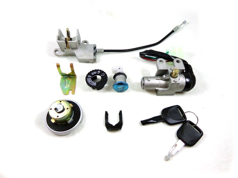 Electric Parts   Coolster ATV Parts 5 Wire Key Ignition Switch Set Scooter Moped 49 50 cc 110 150 250cc Chinese  lock